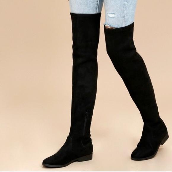 31734b0cac9 Adrienne Vittadini Shoes - Adrienne vittadini Over the knee boots! Black  flat